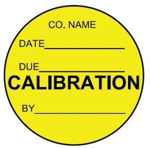 yellow calibration label