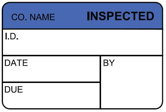 inspection label sample hospital