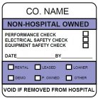 non-hospital owned calibration label