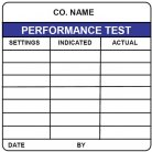 performance test tracking label