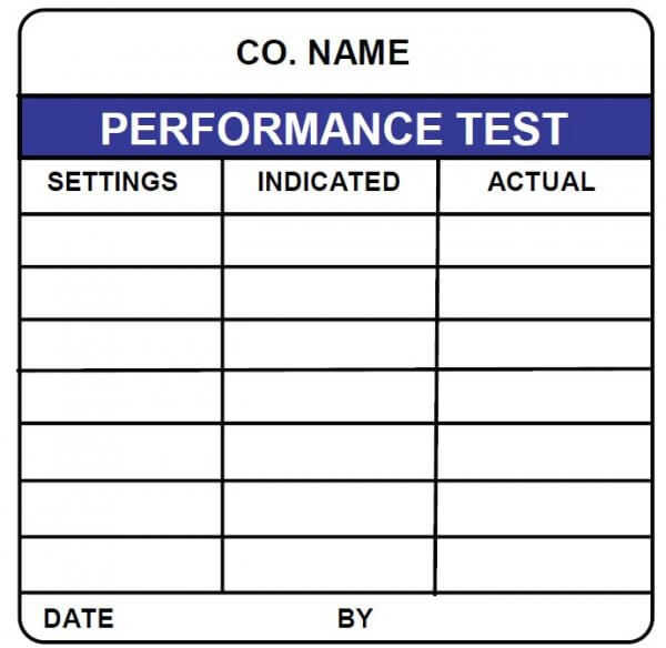 performance test tracking label calibration