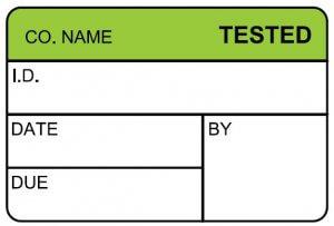 tested calibration label