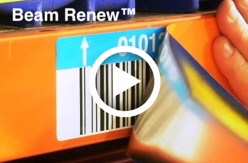 Beam Renew warehouse label