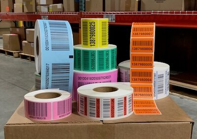 warehouse pallet labels