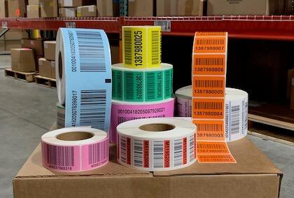 warehouse pallet labels