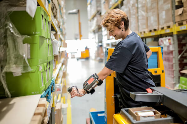 wearable barcode scanner warehouse worker