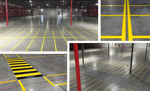 Warehouse floor striping images