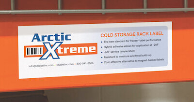 Close up of Arctic Xtreme warehouse freezer lab el