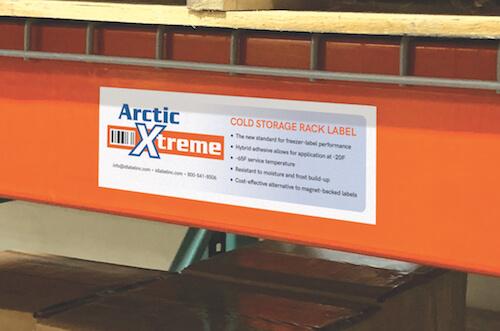 Arctic Xtreme cold storage warehouse freezer label