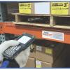 Warehouse freezer rack label