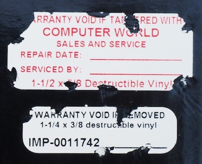 Destructible tamper-evident calibration label