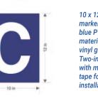 10 x 12 blue aisle marker