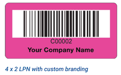4x2 warehouse LPN label with customization