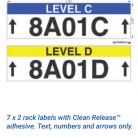 7 x 2 labels