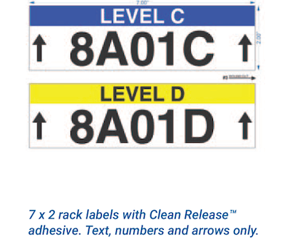 Repositionable warehouse labels without barcodes