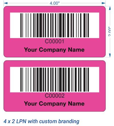 LPN pallet barcode label