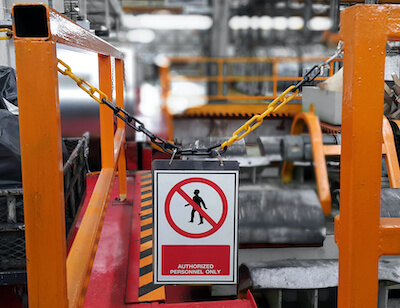 warehouse authorized personnel sign