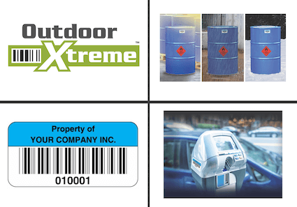 Outdoor Xtreme asset labels group of 4 images
