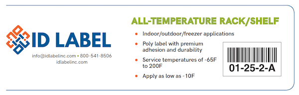 All-Temperature Warehouse Label Features